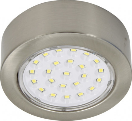 LED round downlight 12V/2W,  69 mm, IP20, warm white 3200 K