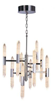 LED ceiling pendant, vertical, IP20, 20 light, 10 arm, Shard, mains voltage, chrome