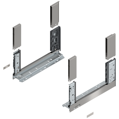 LEGRABOX free drawer side, height C (177 mm), NL=350 mm, left+right, stainless steel