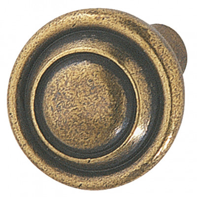 Knob, zinc alloy, Ø 32 mm , eden, antique brass