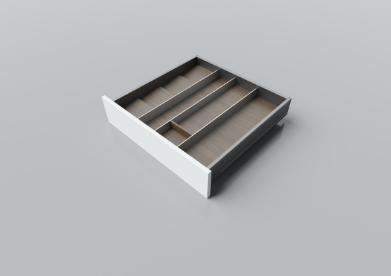 Cutlery divider for LEGRABOX/TA'OR C=550-600 mm, NL=550 mm, walnut