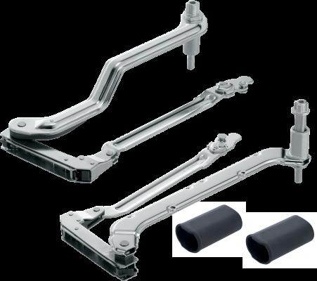 AVENTOS HL lever arms (set), CH=350-399 mm, for SERVO-DRIVE