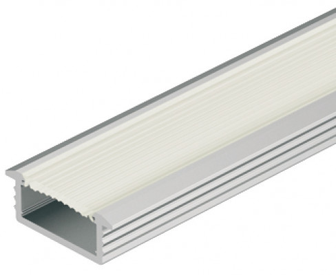 Recessed aluminium profile, LED flexible strip lights, D=6.5mm W=18mm, L= 2.5M frosted