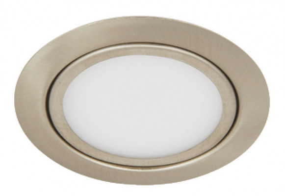 LED downlight 12 V, IP 20, 2.4 W, Loox compatible, 3000 K, brushed nickel