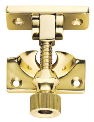 Sash fastener (brighton pattern), architectural, polished brass