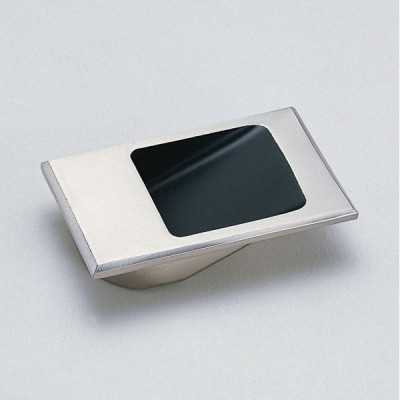 Recessed pull, 55 mm, stainless steel