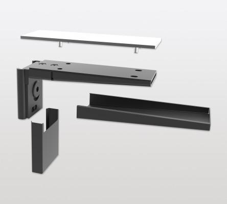 Shelf support for PECASA, for glass shelves, PEKA, black