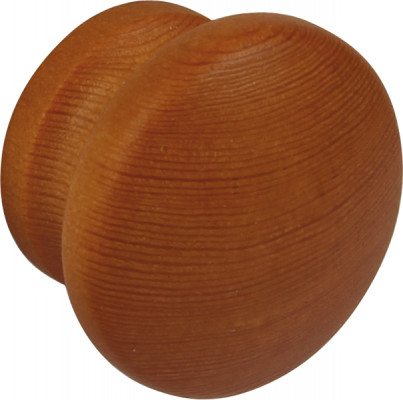 Knob, wood, lacquered or painted, › 43 mm, light oak stained & lacquered