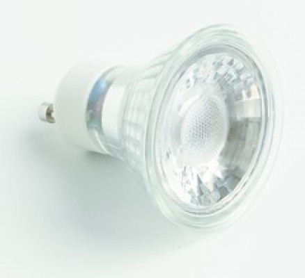 LED lamp 240V/5W, GU10, dimmable, cool white 6400k