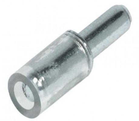Shelf support, plug in, for glass shelves Ø 3 mm hole, galvanized