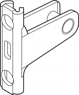 LEGRABOX front fixing bracket, height N (67 mm), screw-on, symmetrical