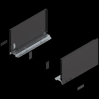 LEGRABOX pure drawer side, height C (177 mm), NL=300 mm, left+right, terra black