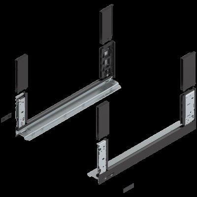 LEGRABOX free drawer side, height C (177 mm), NL=500 mm, left+right, terra black