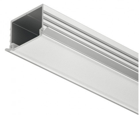 Aluminium profile, LED flexible recessed strip, L=2500 mm, D=11 mm, frost