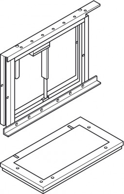 Mnt Frame W Safetystop W Lt 1000mm (1)