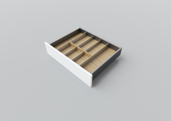 Cutlery divider for LEGRABOX/TA'OR C=550-600 mm, NL=450 mm, oak