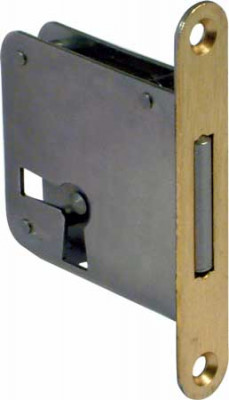 Mortice lock, lever bit, 2 position, steel, backset 25 mm, left /drawer mounting