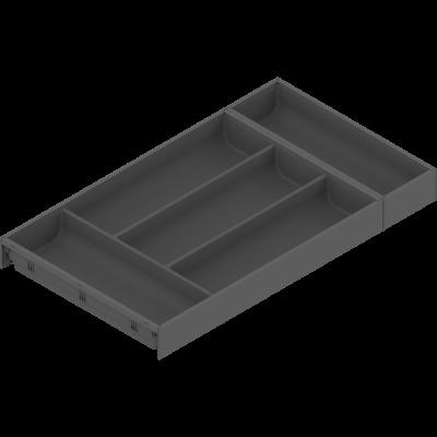 AMBIA-LINE cutlery insert, width=300 mm, NL=550 mm, terra black