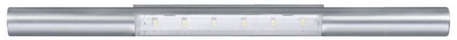 LED rechargeable door/drawer light, Ø20 mm, IP20, USB charging, silver
