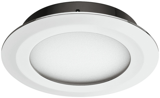 LED downlight 12 V, Ø 72 mm, IP20, Loox compatible, smally plus, chrome, warm white 3000 K