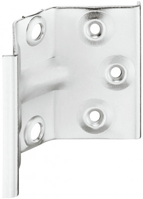 Corner brace, for attaching table legs to table frame, height 70 mm, steel, galvanized