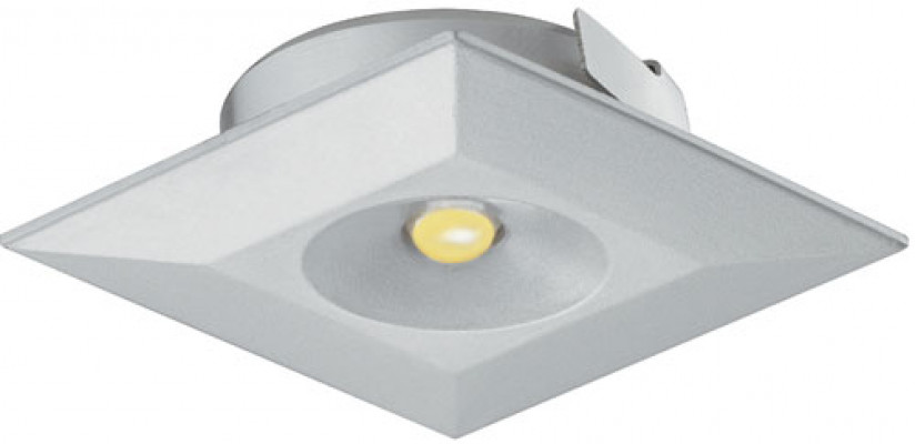 LED downlight 350mA/1W, 36x36 mm, IP20, Loox LED 4003, warm white 3000 K