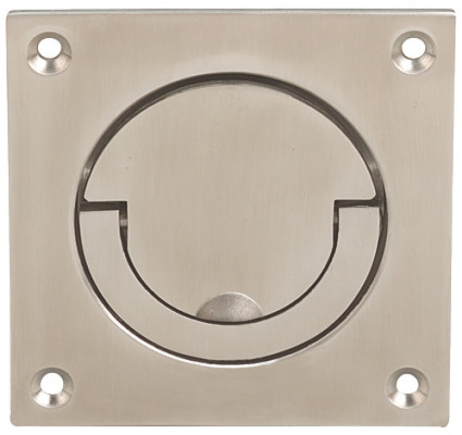Squash court handle, to operate, 90x90 mm, brass, satin nickel
