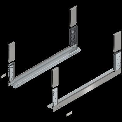 LEGRABOX free drawer side, height C (177 mm), NL=650 mm, left+right, stainless steel