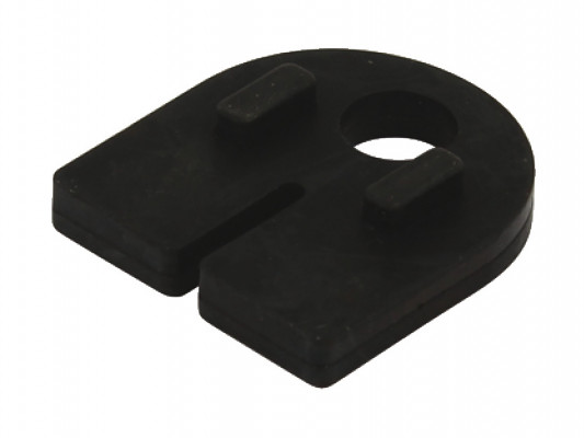 Rubber lining, for glass thickness 8 mm, for use with glass holder, black