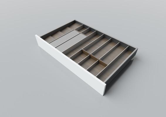 Cutlery divider for LEGRABOX/TA'OR C=900-1000 mm, NL=550 mm, walnut