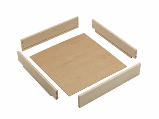 Drawer box H=140 mm (unassembled), NL=450 mm, CW=1000 mm, beech