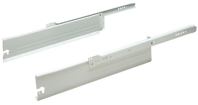 Metal Drawer Sides White 85X500mm