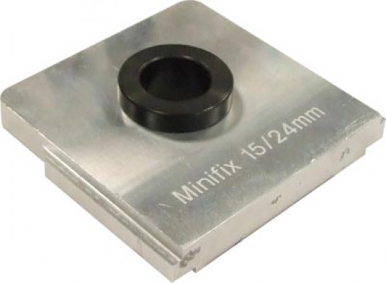 Drill insert, for unitool multi drilling jig, to suit minifix 15, drilling distance 24 mm