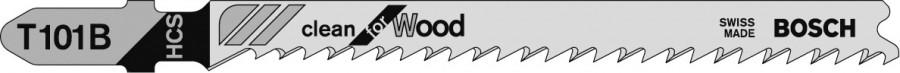 Jigsaw blade, Bosch T101B, 1 pack, 5 blades
