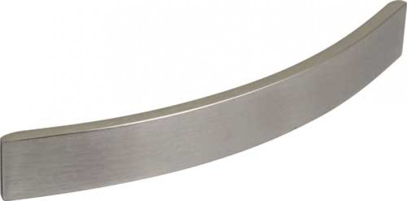 Bow handle, aluminium, fixing centres 224, stainless steel effect