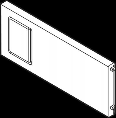 AMBIA-LINE cross divider for LEGRABOX, width=100 mm, terra black