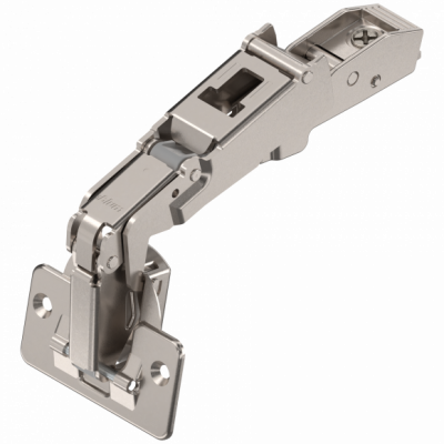 CLIP top wide angle hinge 170°, OVERLAY, unsprung, boss: SCREW-ON, nickel