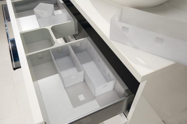 Storage system for under sink drawers, h frame set, ninka banio, white