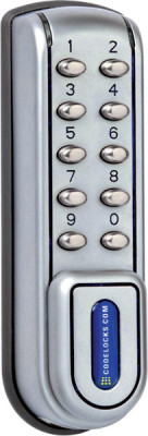 Locker lock, digital electronic, 10 individ buttons, kitlock 1200, heavy duty use, silver