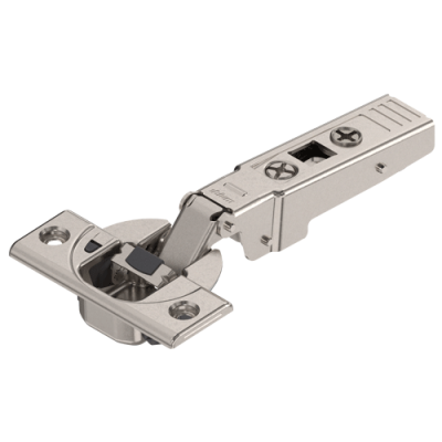 CLIP top BLUMOTION profile door hinge 95°, OVERLAY, boss: SCREW-ON, nickel