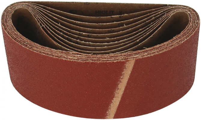 Cloth belt, 75x533 mm, mirka hiolit x, for power sanding, grit 60