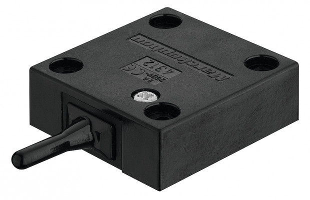 Built in switch, with pin type switch, black