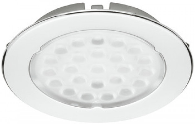 LED Downlight kitset, 1.7W/24V, Ø65 mm, IP20, Loox LED, cool white 5000K, silver (2 LIGHT)