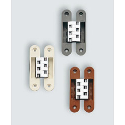 HES 3D concealed hinge with cover caps, grey
