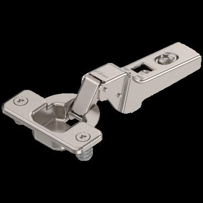 CLIP hinge 100° dual applictions, steel, boss: KNOCK-IN, nickel