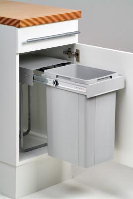 Big bio waste bin, CW=300 mm, 26 litre, single recycler, WESCO, grey