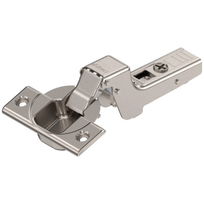 CLIP top hinge 110°, INSET applications, unsprung, boss: SCREW-ON, nickel
