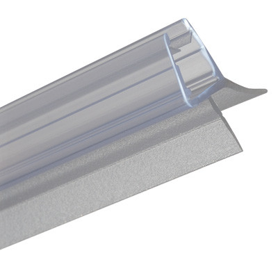 Shower Seal Bottom H Profile Clear Pvc