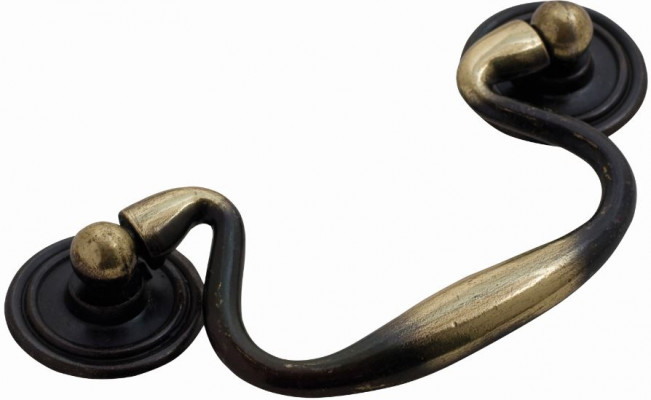 "Large swan handles, 3"", antique"