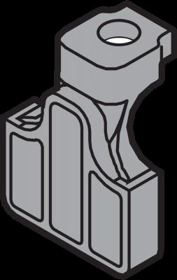 POSIStop & depth adjustment for TANDEM, dust grey